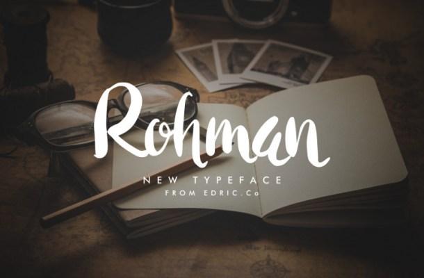 Rohman Brush Font