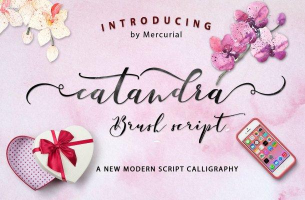 Catandra Brush Script Font