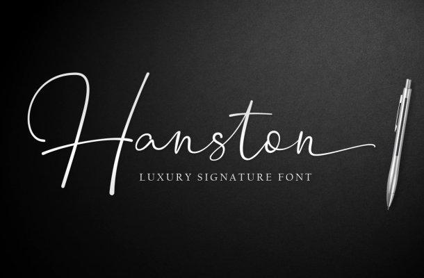 Hanston Signature Font
