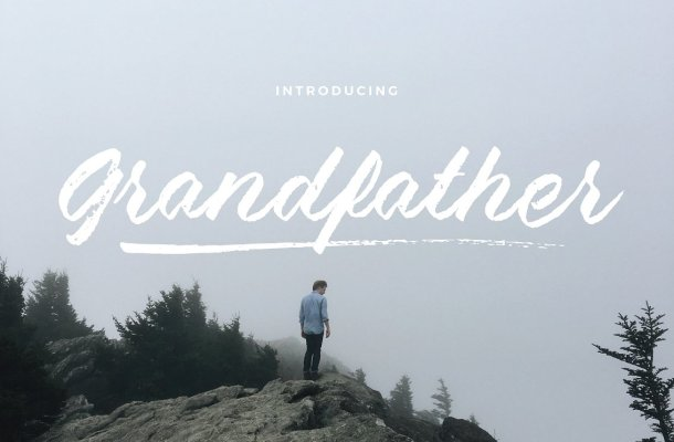 Grandfather Brush Script Font