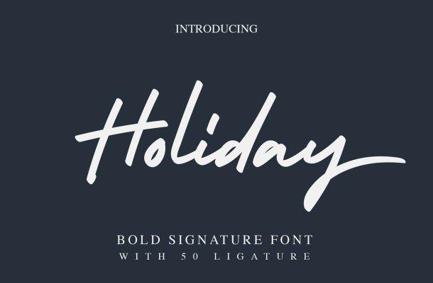 Holiday Bold Script Font