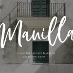 Manilla Script Font