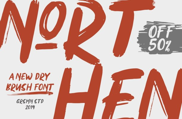 Northen Brush Font