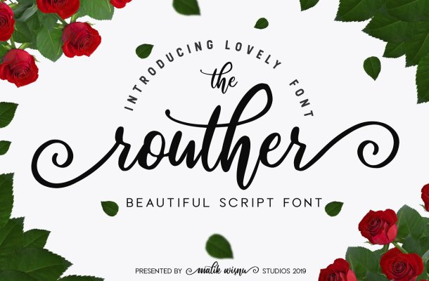 Routher Script Font