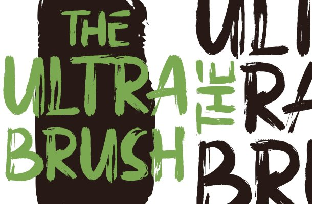 The Ultra Brush Font