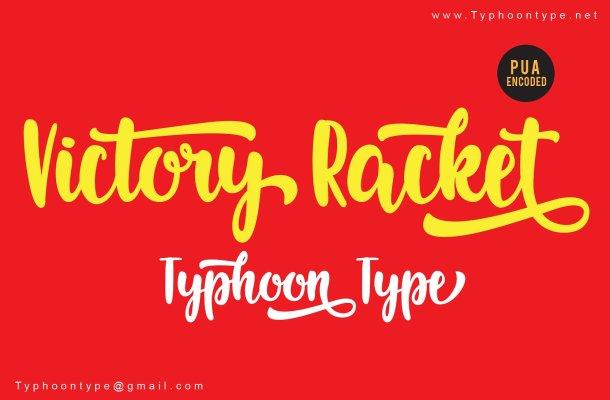 Victory Racket Script Font