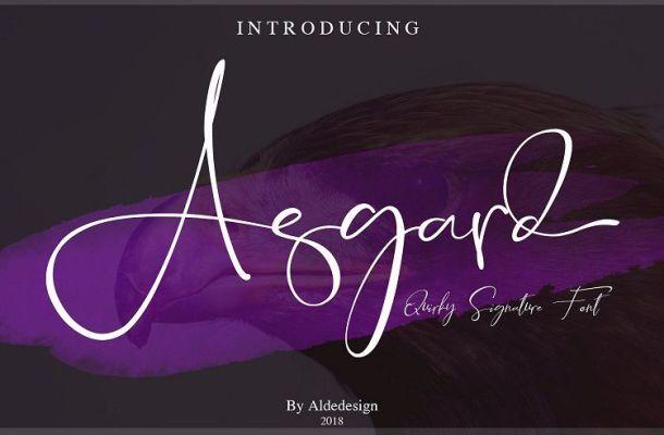 Asgard Script Font