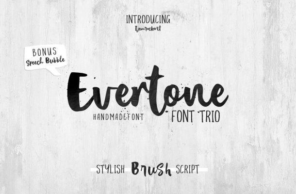 Evertone Script Font