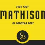 Mathison Typeface