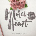 Merci Heart Brush Font