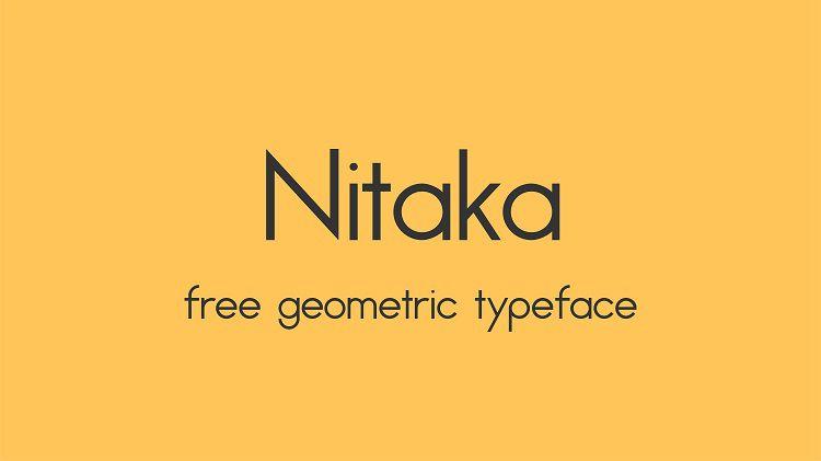 Nitaka Typeface
