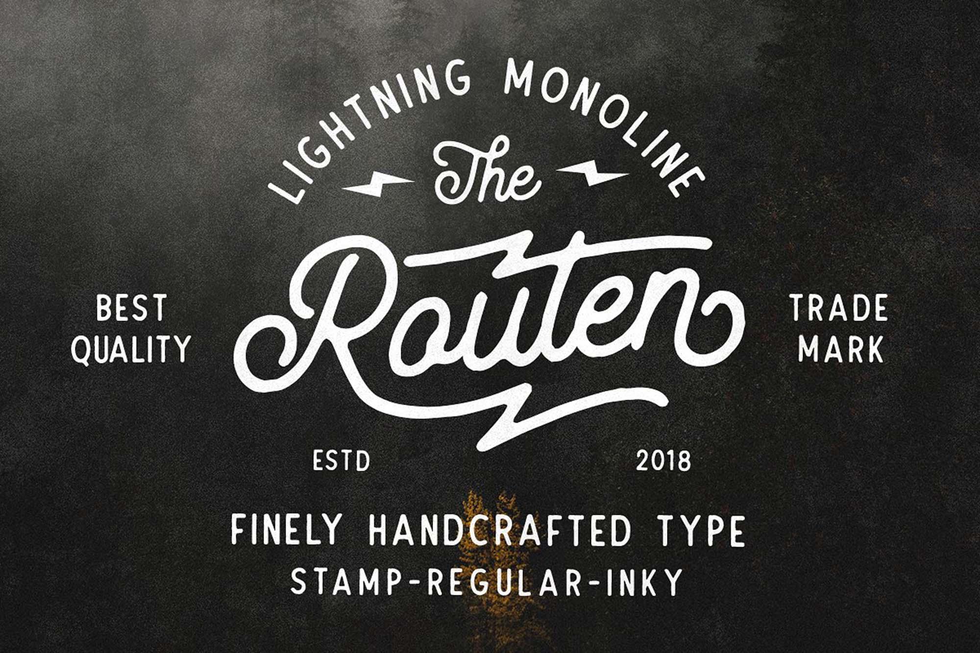Routen-Lightning-Font-1