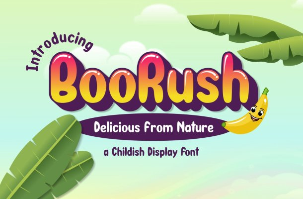 BooRush Display Font