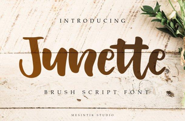 Junette Script Font