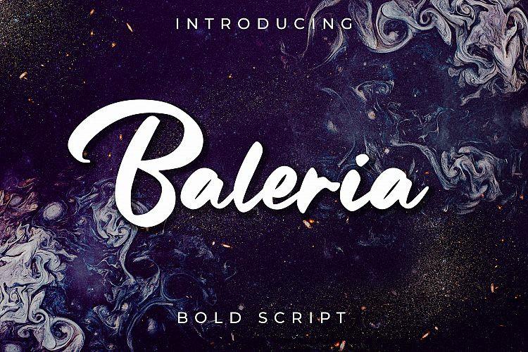 Baleria Bold Script Font - Free Fonts