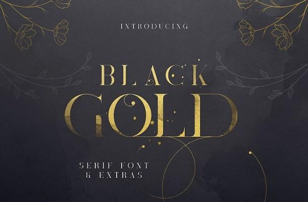 Black Gold Serif Font