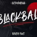 Blackball Brush Font