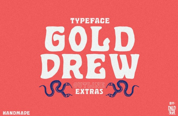 Golddrew Display Font