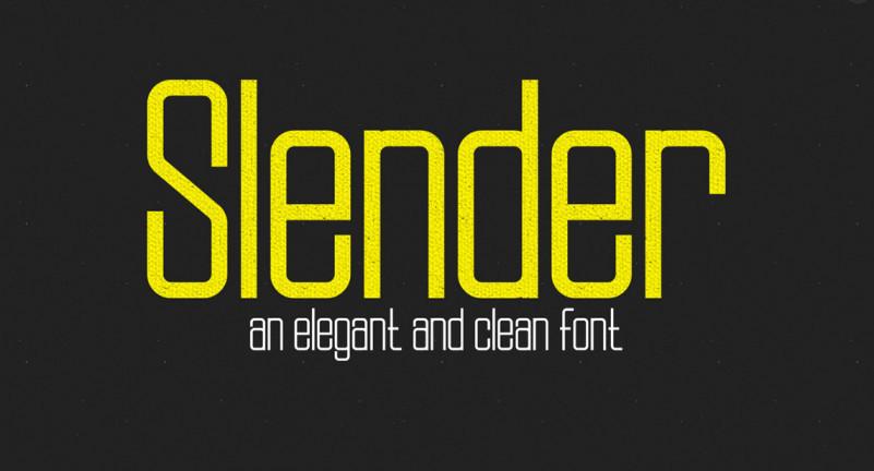 slender-font-family