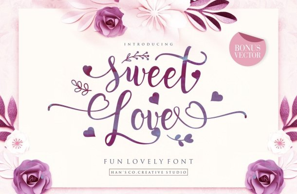 Sweet Love Calligraphy Font