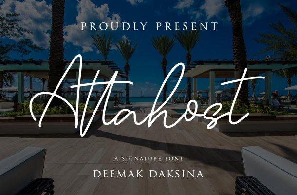 Attahost Signature Font