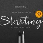 Starting Signature Script Handwritten Font