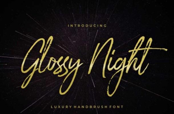 Glossy Night – Handbrush Font