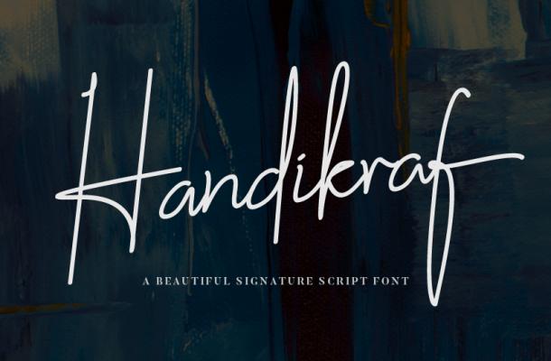 Handikraf Signature Handwritten Font