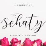 Sehaty Script Calligraphy Font