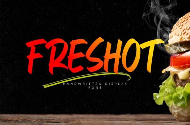 FresHot Brush Font