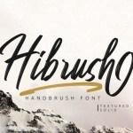 Hibrush Brush Font