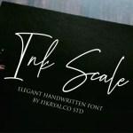 Ink Scale Handwritten Font