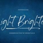 Light Brighter Brush Font