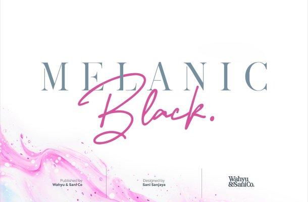 Melanic Black Font Duo