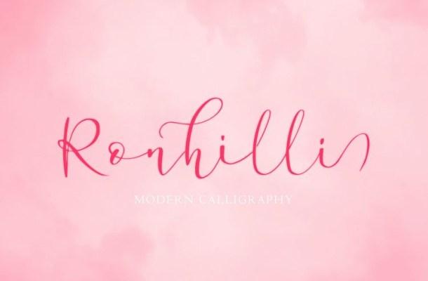 Ronhilli Script Font