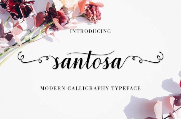 Santosa Calligraphy Font