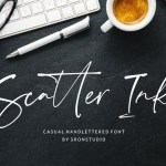 Scatter Ink Handlettered Font