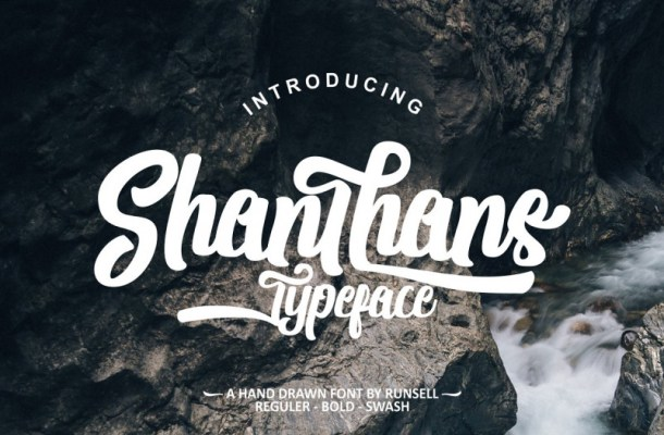 Shanthans Script Font