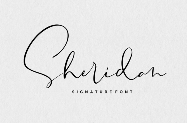 Sheridan Signature Font