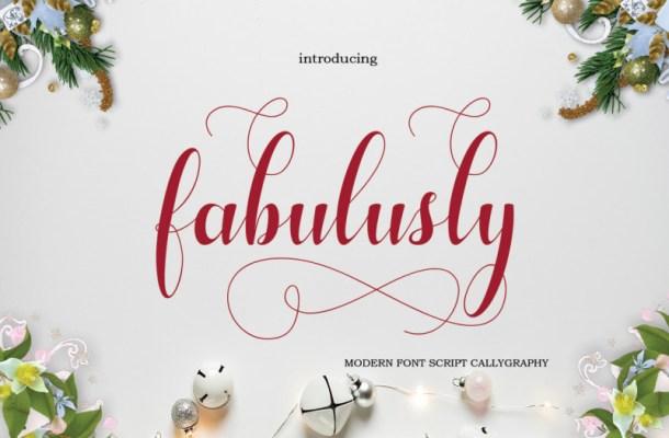 Fabulusly Script Font