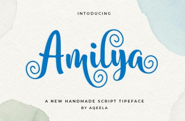 Amilya Calligraphy Font