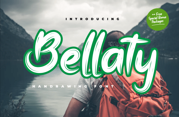 Bellaty Brush Font