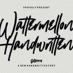 Wattermellon Handwritten Font