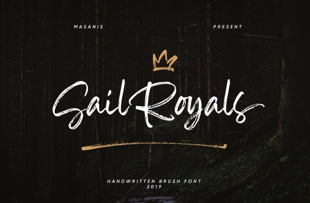 Sail Royals Brush Font