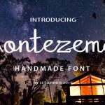Montezema Handmade Font