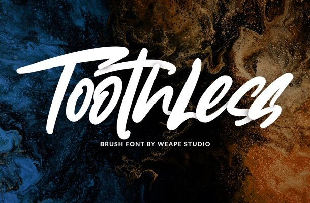 Toothless Brush Font