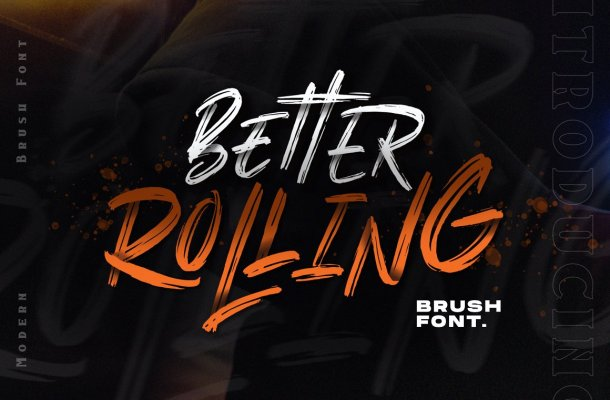 Better Rolling Brush Font