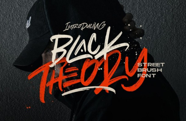 Black Theory Urban Brush Font