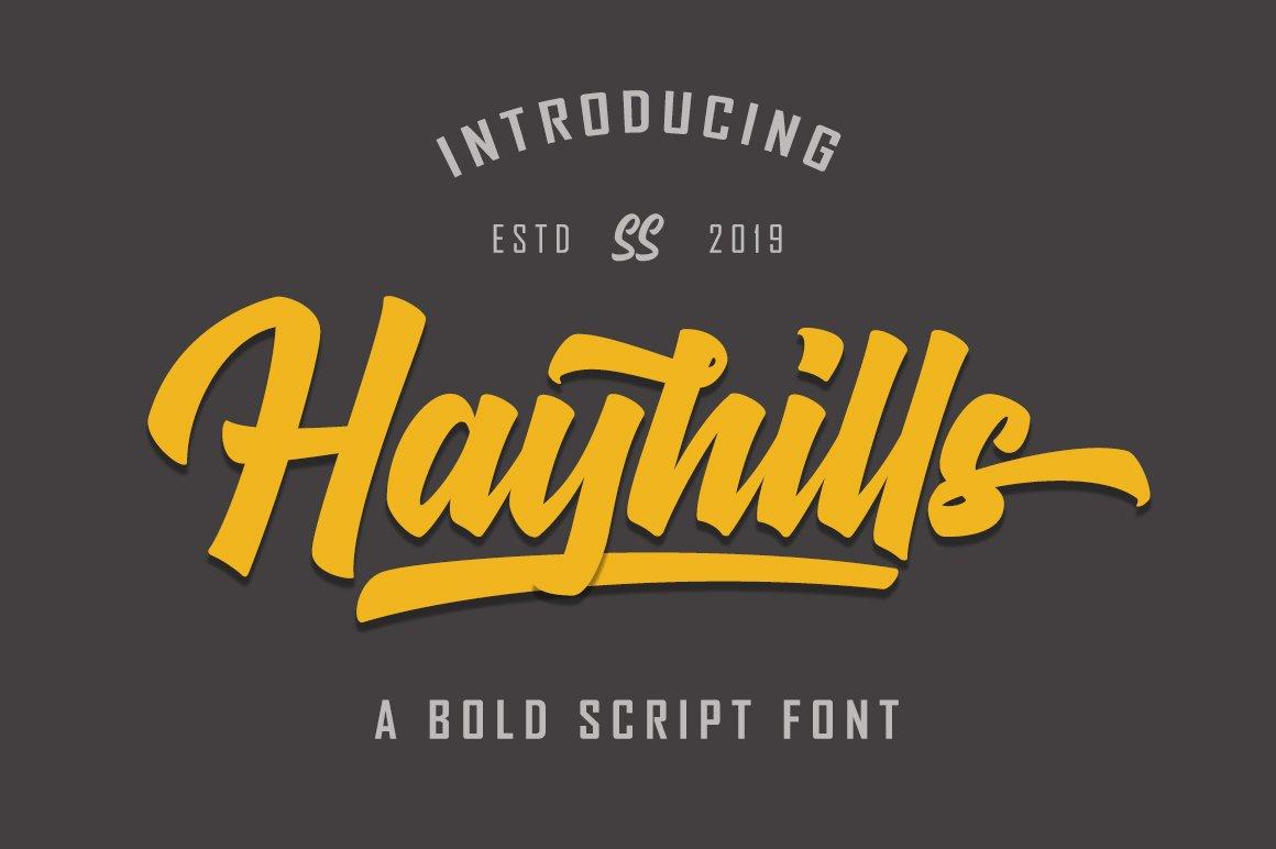 Hayhills-Bold-Font