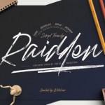 Raidden Script Font Family